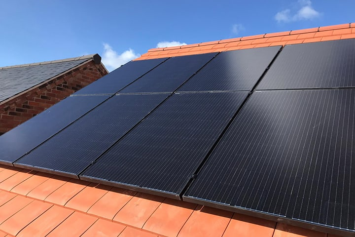solar pv roof install